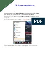 Como colocar IP fixo ou automático no Windows 7