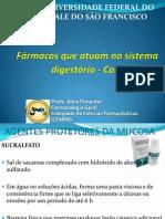 Farmacos que atuam no sistema gástrico aline lange CONTINUAÇÃO