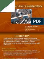 Tarnish and Corossion