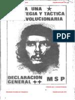 Declaracion General del Movimiento Socialista Popular - Hacia una estratégia y táctica revolucionaria - MSP.pdf