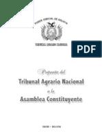 PropuestaTribunal Agrario Nacional a La Asamblea Constituyente