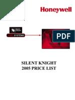 Silent Knight Price List 2005