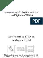 Comparación de Equipo Análogo con Digital en TDMA