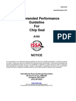 A165 Recommended Performance Guideline for Chip Seal
