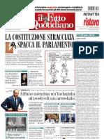 Quotidiano Il Fatto del 27 luglio 2013