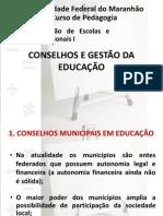 SLIDE 3- CONSELHOS E GESTÃO DA EDUCAÇÃO