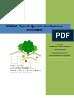 Manual Aprendizaje Mediante El Servicio en Comunidades