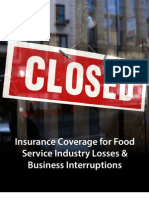 Insurance Coverage for Food Service Industry Losses & Business Interruptions