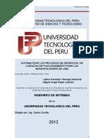Sistematizar Los Procesos de Obtencion de Licencias de Funcionamiento Para Las Municipalidades de Lima