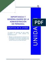 Admon de Personal Unidad 1 PDF