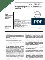 NBR 5741 - Extração e preparação de amostras de cimentos - 1993
