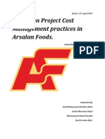 Project Cost Management Practices in Fruity Bread