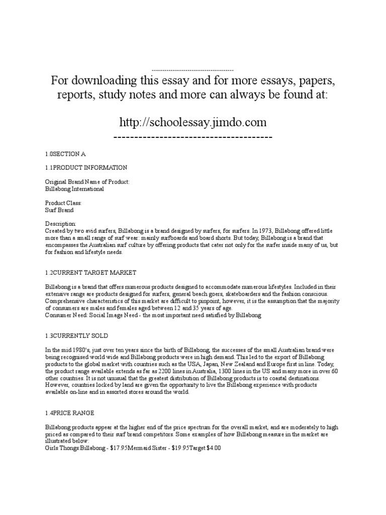 billabong case study
