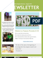 Living Water Equine Services Newsletter - August 2013