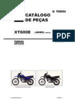 Yamaha XT600E Parts Catalogue Portuguese
