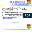 Strategic Planning and Marketing Process