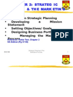 Strategic Planning and Marketing Process