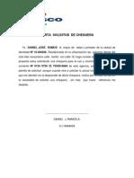 Carta Solicitud de Chequera