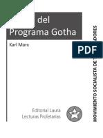 Critica del programa de gotha - Karl Marx, F. Engels, R. Báez Sánchez.pdf