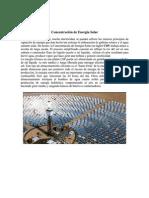 Concentracion de Energia Solar