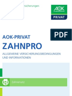 AOK Privat Broschuere ZahnPro