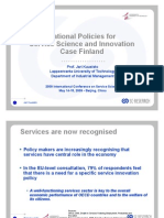 Innovation policy and service science in Finland