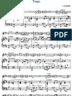 ALBÉNIZ - Tango (violín + piano)