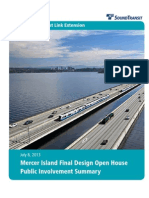 Mercer Island East Link Station Open House Summary