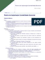 Roteiro de Implantação Contabilidade Gerencial