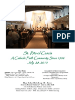 St. Rita Parish Bulletin 7/28/2013