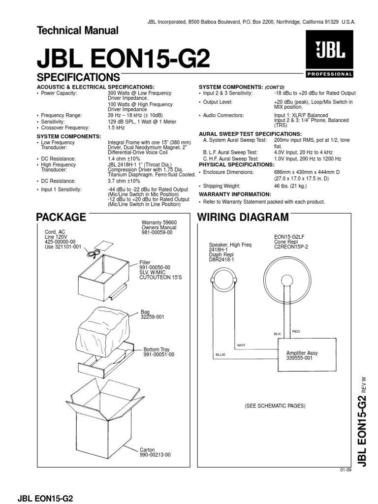 eon 15 g2 service manual microphone decibel rh scribd com jbl eon one manual jbl eon connect manual