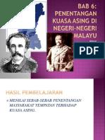 BAB 6. Penentangan Di Negeri-Negeri Melayu