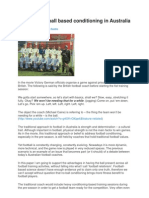 Towards Football Based Conditioning in Australia