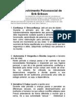 Desenvolvimento Psicossocial Erikson
