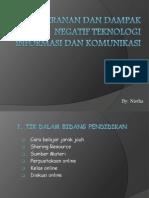 Peranan Dan Dampak Negatif Teknologi Informasi Dan Komunikasi
