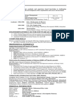 CV AsimRiaz - one page