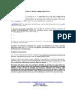 DELITO DE DESPOJO Y POSESIÓN JURÍDICA.doc