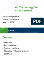 Finance and Technology for More Effective Systems