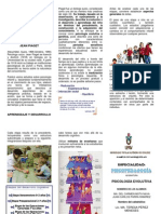 Triptico Desarrollo y Aprendizaje de JEAN PIAGET