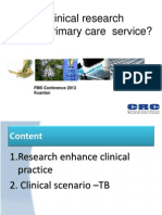 How Can Clinical Research Improve Primary Care Service _FMSC 2013