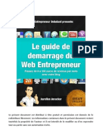 Guide Demarrage Web Entrepreneur