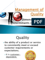 Management of Quality