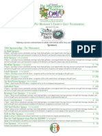 Golf Tournament 2013 Sponsorship Info