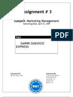 Customer Retention Strategy of Sammi Daewoo Pakistan