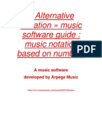 Alternative Notation music software - Music notation based on numbers - User Guide