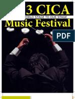 Music Festival Program Book
