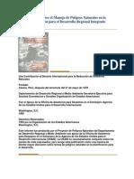 Manual Sobre el Manejo de Peligros Naturales en la Planificación para el Desarrollo Regional Integrado