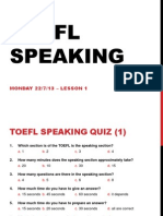 TOEFL Speaking Intro