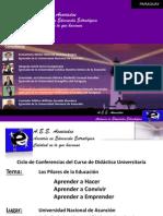 PILARES DE LA EDUCACION - Presentación