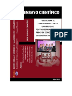 Gestionar El Conocimiento en La Universidad Postmoderna Desde Las Redes de Conocimiento. Un Contructo Complejo